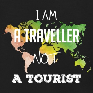 I am a traveller not a tourist - Men's Zip Hoodie