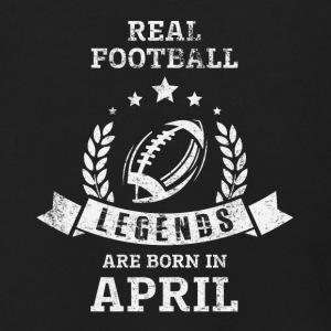 REAL FOOTBALL LEGENDS ARE BORN IN APRIL - Men's Zip Hoodie