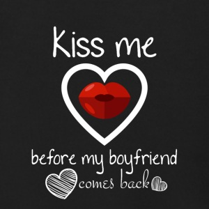 Kiss me before my boyfriend comes back - Men's Zip Hoodie