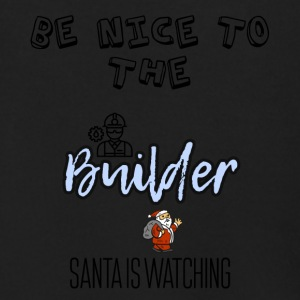 Be nice to the Builder Santa is watching - Men's Zip Hoodie