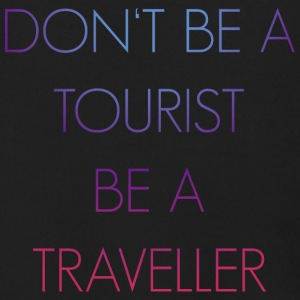 Don't be a tourist be a traveller. - Men's Zip Hoodie