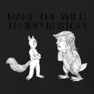 MAKE THE WILD TRUMPUS STOP! - Men's Zip Hoodie