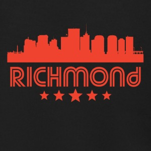 Retro Richmond Skyline - Men's Zip Hoodie