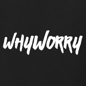 Why Worry white - Men's Zip Hoodie