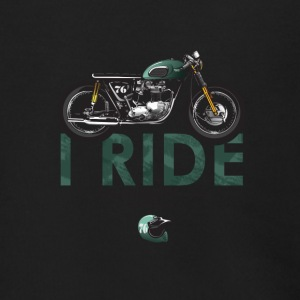 I Ride motorcycle for bikers - Men's Zip Hoodie