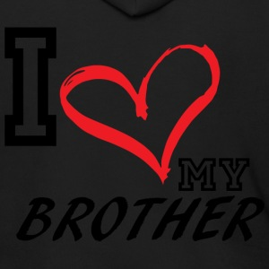 I_LOVE_MY_BROTHER - Men's Zip Hoodie