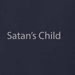 Satan's Child text - Men's Zip Hoodie