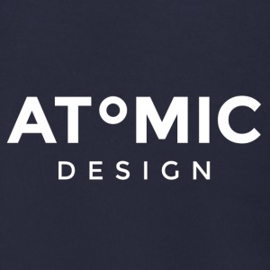 Atomic Brand White logo - Men's Zip Hoodie