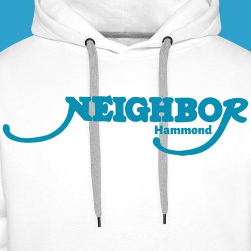 Hammond Blue Font - Men's Premium Hoodie