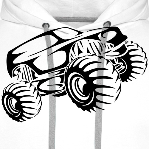 Monster Truck Abstract - Men's Premium Hoodie