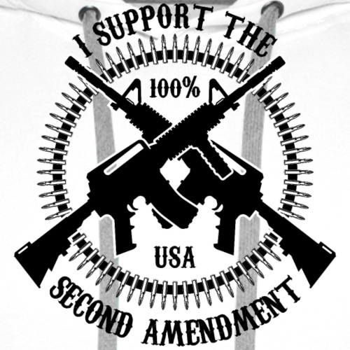 I Support The Second Amendment - Men's Premium Hoodie
