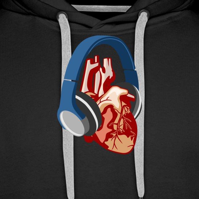 Heartbeats for Music Headphones