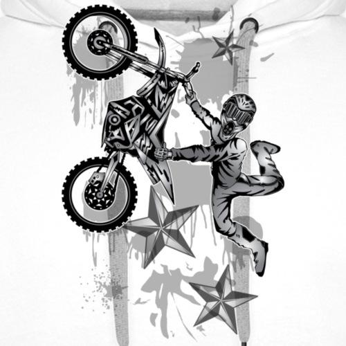 Star Splattered Dirt Biker - Men's Premium Hoodie