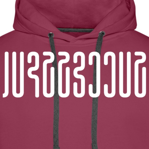 Successful Abstract Characters (White) - Men's Premium Hoodie