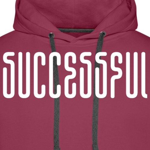 Successful Abstract Characters White MIRROR - Men's Premium Hoodie