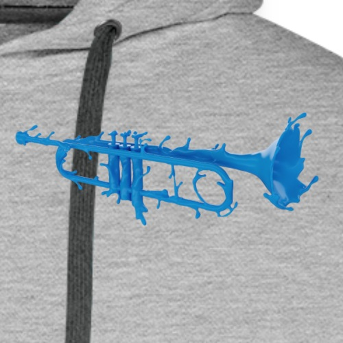 Trumpet Splash Logo Blue - Men's Premium Hoodie