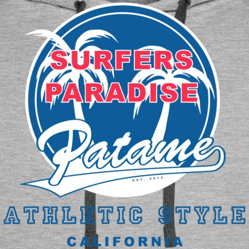 Surfers Paradise Athletic Blue - Men's Premium Hoodie