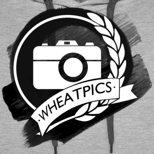 WheatPics White Logo Paint - Men's Premium Hoodie