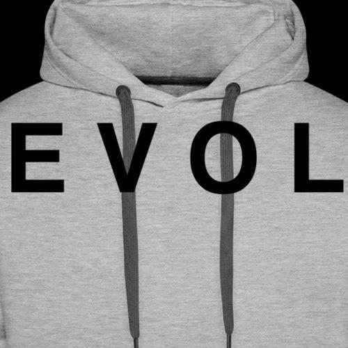 Evol - Black Lettering - Men's Premium Hoodie