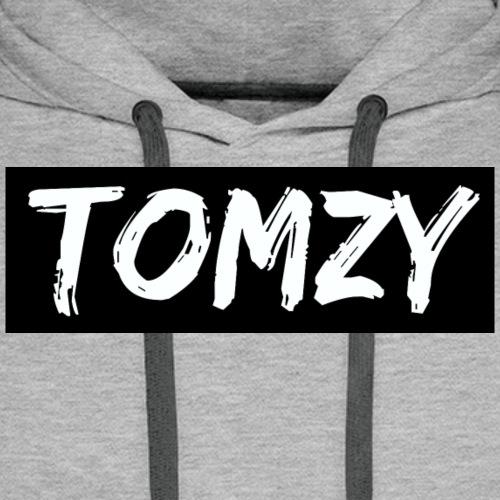 Tomzy Logo White - Men's Premium Hoodie