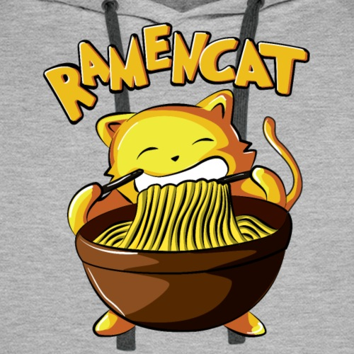 Ramen Cat - Men's Premium Hoodie