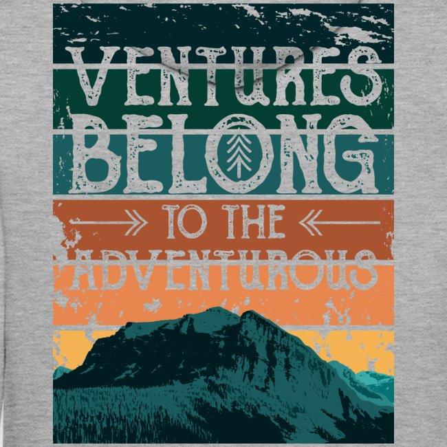 Ventures Belong To The Adventurous    VAN LIFE