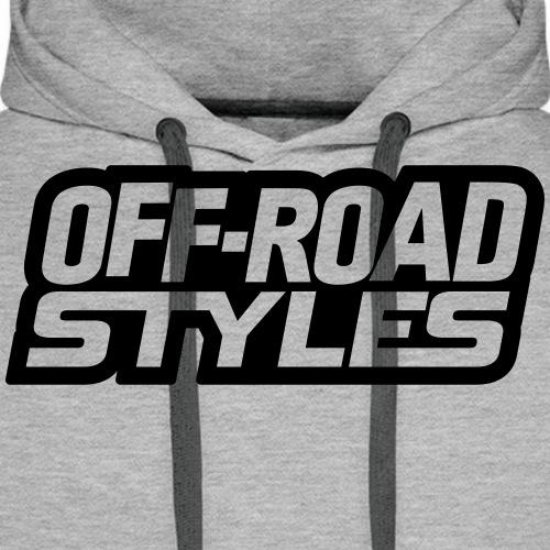 Snowmobile Warning T-Shirts - Men's Premium Hoodie