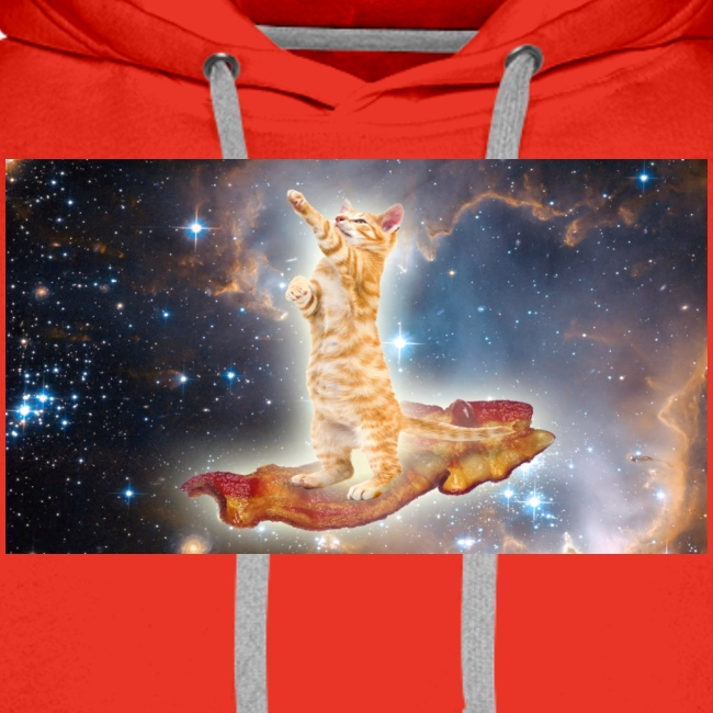 Cat on bacon.