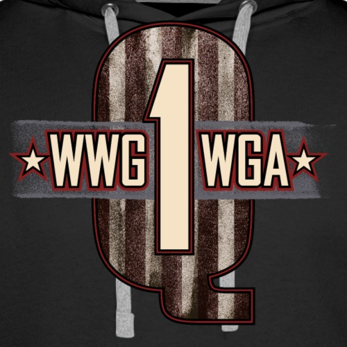 Q1 Letterpress - WWG1WGA - Men's Premium Hoodie