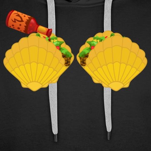 Mermaid Shell Hoodie Taco Bra & Spicy Chili Sauce - Men's Premium Hoodie
