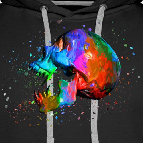Abstract Skull - Multicolored - Men's Premium Hoodie