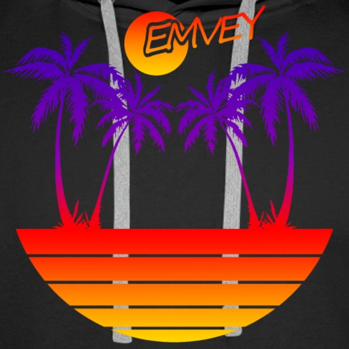 EMVEY - Palm Tree Sunset - Men's Premium Hoodie