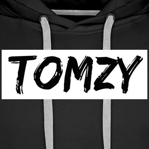 Tomzy Logo Black - Men's Premium Hoodie