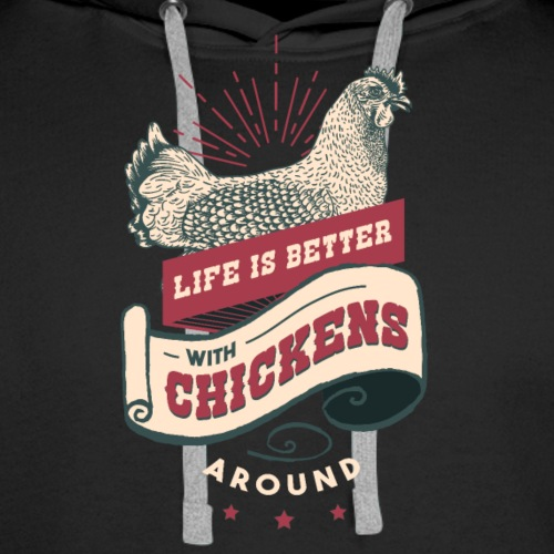 Chicken t shirts - Men's Premium Hoodie
