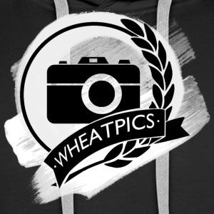 WheatPics Black Logo Paint - Men's Premium Hoodie