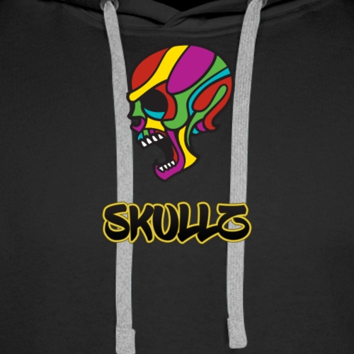 Skullz - Skull Tribal Design - Men's Premium Hoodie