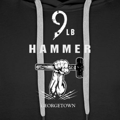 9lb Hammer Logo - Men's Premium Hoodie