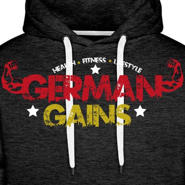 German Gains Logo fuer schwarzes Shirt png
