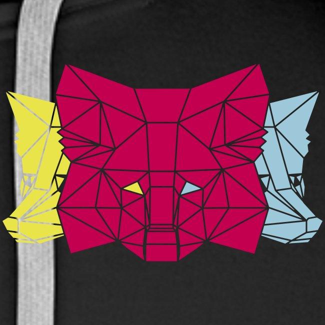 MetaMask Multi Colored Triple Head