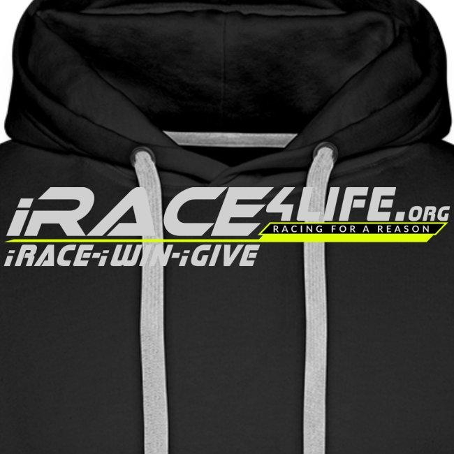 iRace4Life.org Gray Logo w/ iRace-iWin-iGive!