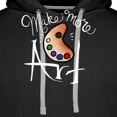 Make more art - Men's Premium Hoodie
