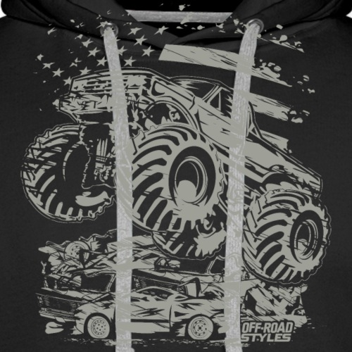 Monster Truck USA - Men's Premium Hoodie