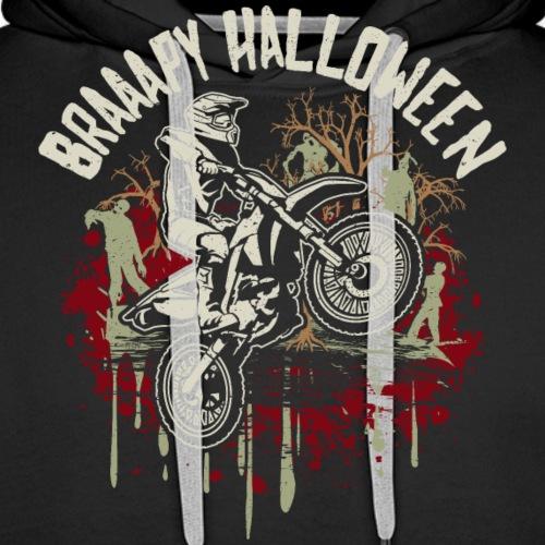 Dirt Bike Happy Halloween - Men's Premium Hoodie