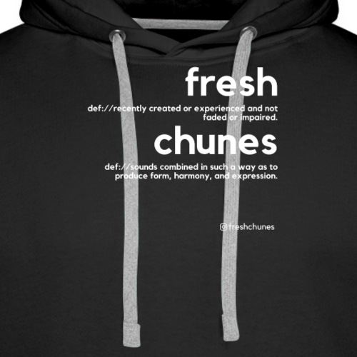 Clothing for All Urban Occasions (Bk+Wt) - Men's Premium Hoodie
