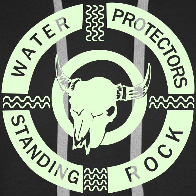 water protector standing