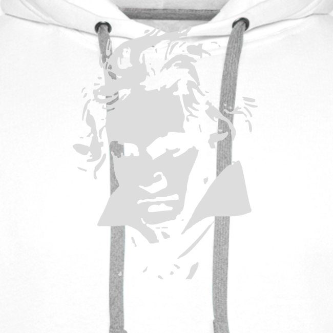 Ludvig Van Beethoven negative for dark shirts
