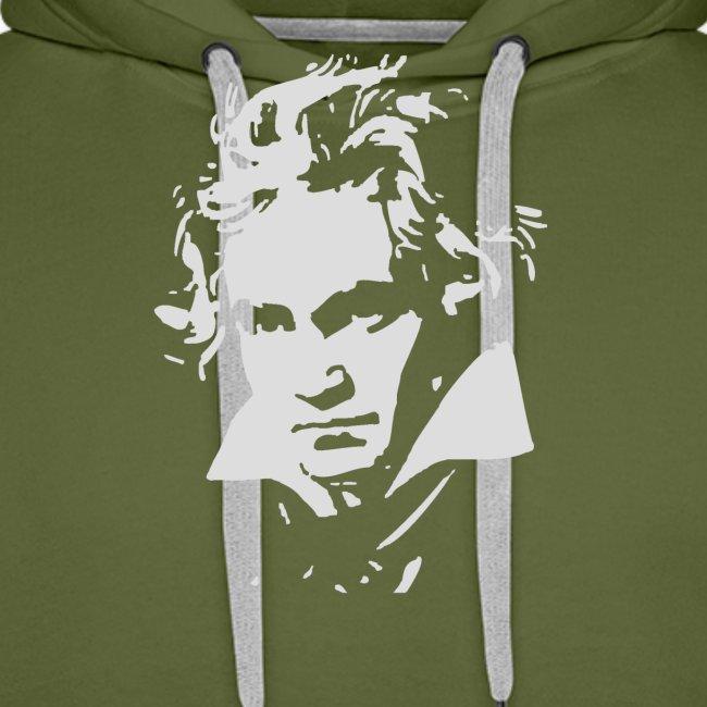 Ludvig Van Beethoven negative for dark shirts