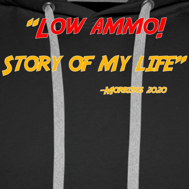 Logoed back with low ammo front