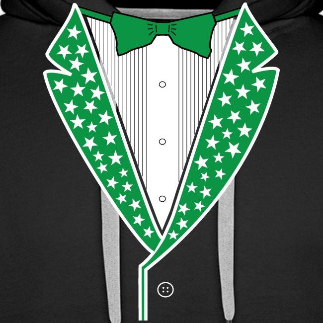 Star Tuxedo in Green PNG