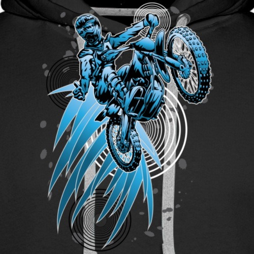 Blue Psycho Dirt Biker - Men's Premium Hoodie